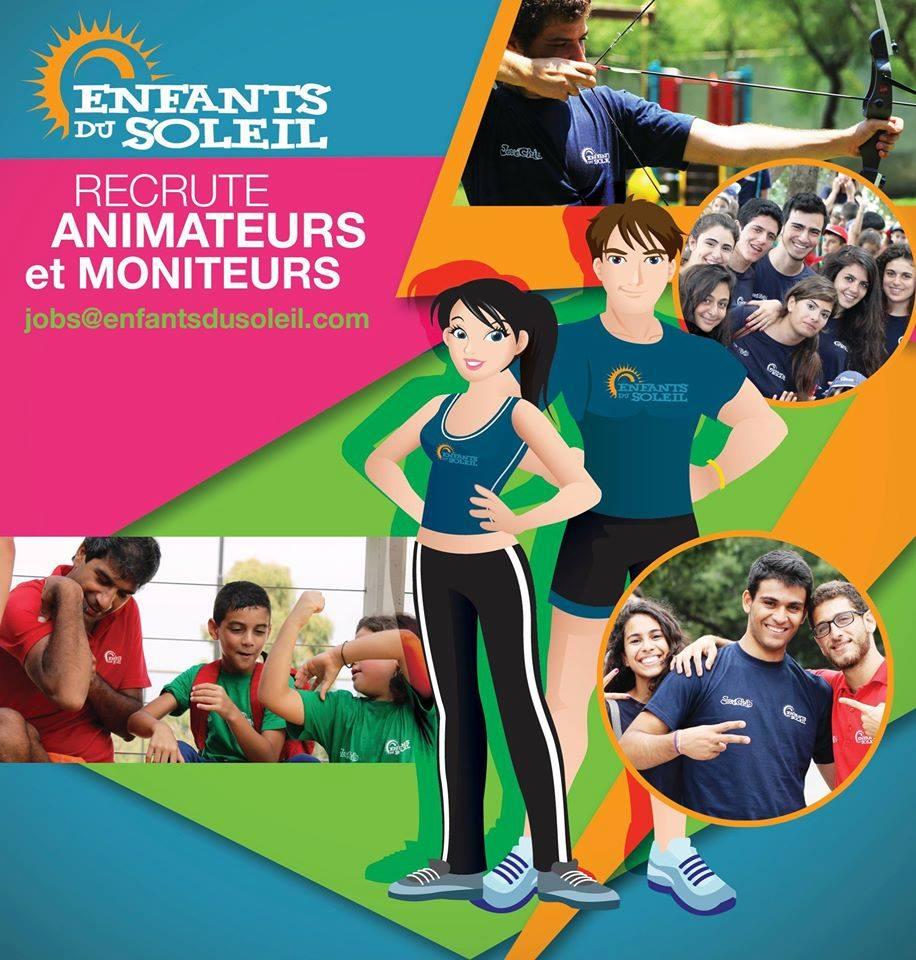 recrutement animateurs et moniteurs