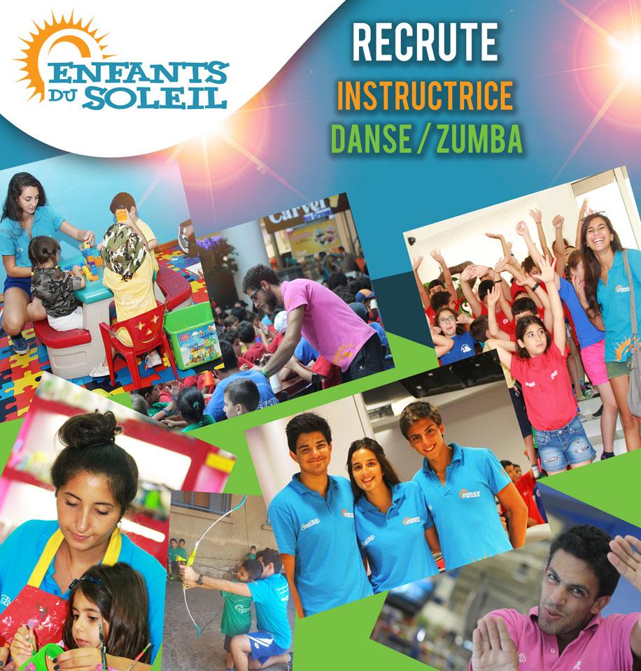 Recrute Instructrice Danse / Zumba